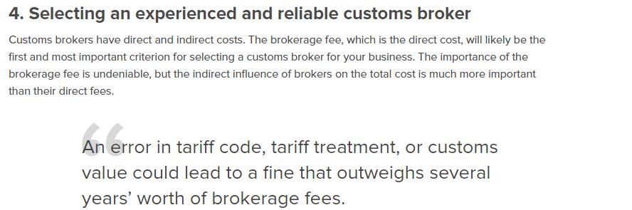 هزینه های گمرکی صادرات